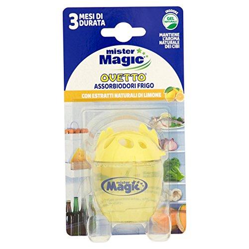 Mister Magic Assorbi Odori Frigo con Estratti Naturali di Limone – 1 Prodotto