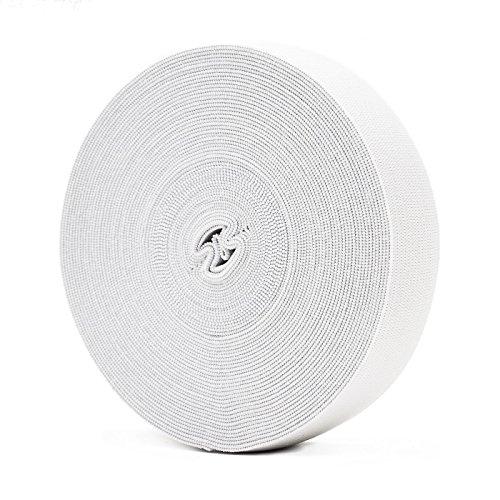 Bianco elastico per abiti personalizzati e artigianato DIY domestico 10 metri, 2,5 cm in larghezza
