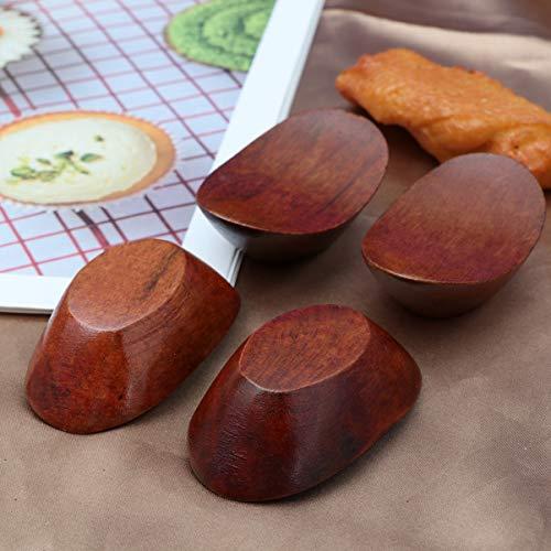 UPKOCH 6 Pezzi di Bacchette poggia Bacchette di Legno a Forma di lingotto Porta-forchette Cucchiaio Supporto per Tavolo Supporto per Banchetto Festa Festival 6