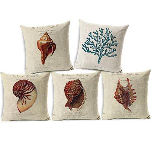 cuscini per divani/cuscino stile marino/cuscino divano cotone/cuscini divano e federe 45×45(5pcs)