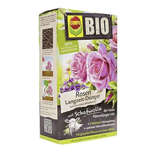 Compo 20292 Rose Biologico di fertilizzanti a Lento Rilascio con Lana, 2 kg
