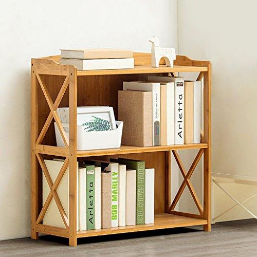 YUAN Scaffale di bambù scaffale di stoccaggio scaffale libreria Studente di atterraggio Multi-Strato in Legno massello Semplice scaffale