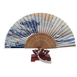 Honeysuck tradizionale giapponese Art stampe palmare ventaglio pieghevole 2