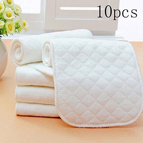 Alva Baby 6pcs Pack Pocket regolabile lavabile panno pannolini + 12inserti 2