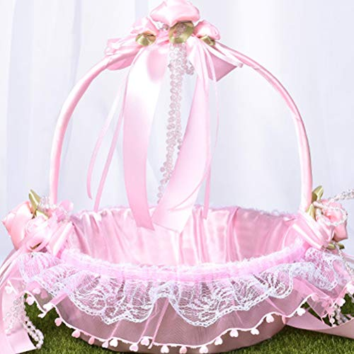 15 x 13 cm bianco rosa romantico matrimonio anello box rose Heart Favors wedding Ring Pillow con elegante satin flora gioielli di nozze accessori