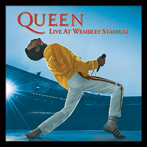 """Queen """"Live at Wembley Album di Stampa incorniciata, Multicolore, 30,5cm 2"""