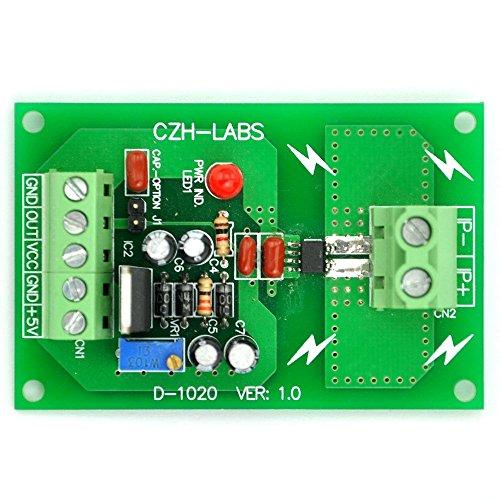 Electronics-Salon Montaggio a pannello +/- 5A AC / DC Current Sensor Board Modulo, sulla base di ACS712