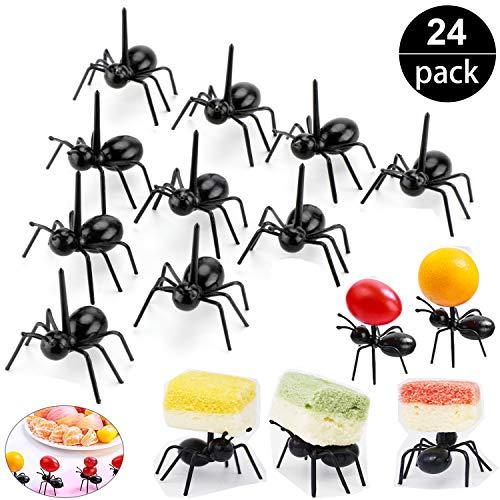 OOTSR Formica di Lavoro Forchetta da Frutta Set, Uso Multiplo Snack Cake Dessert Forchette da Cucina Food Pick for Bar Party (Set di 24)