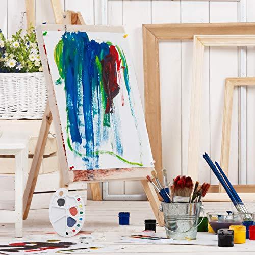 Relaxdays, Bianca Tavolozza dei Colori, con Foro per Il Pollice, per Studenti e Pittori, con 20 Vaschette, in Plastica, 1.5 x 34 x 25 cm 6