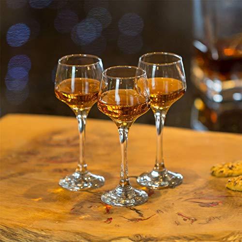 Argon Tableware Bicchiere da Sherry/liquore – in Vetro – 80 ml – 6 Pezzi 8