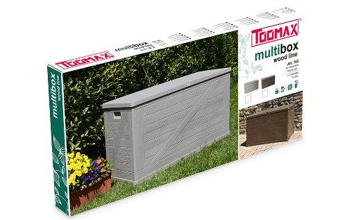 TOOMAX Z163R025 Baule Multibox, Wood Line, 120X57X63, Tortora 3