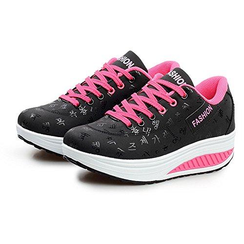 WEANT ? Sneakers Donna Eleganti Scarpe Zeppe Donna Ragazze Casual Vintage Primavera Estivi Scarpe Sportive estive Comode per Camminare Casual Scarpa a Zeppa Altalena Crescente per Donna