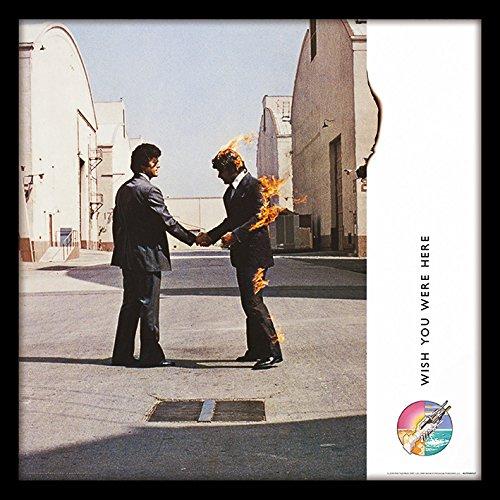 """Pink Floyd """"Wish You Were Here Album Cover Stampa incorniciata, Multicolore, 30,5cm"""