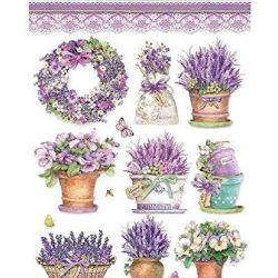 Carta di riso farfalle e lavanda, Stamperia, A4, carta di riso su decoupage, colori per hobby