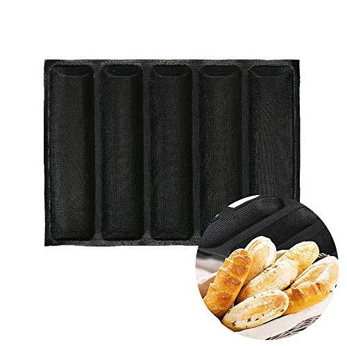 Stampo in silicone per pane, antiaderente, riutilizzabile, stampo perforato, 5 teglie per pane