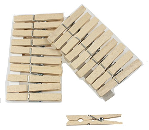 DB Gardentools Mollette per bucato, in legno, da appendere chiavi, 20 unità 4