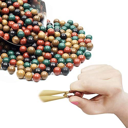 GEGEQUNAERYA Fionda Munizion Catapulta Slingshot Ammo Hard Clay Ball Slingshot Palla Beads Palla Fango Sicurezza Catapulta Target Tiro Miglior Regalo per Gli Amanti della Fionda