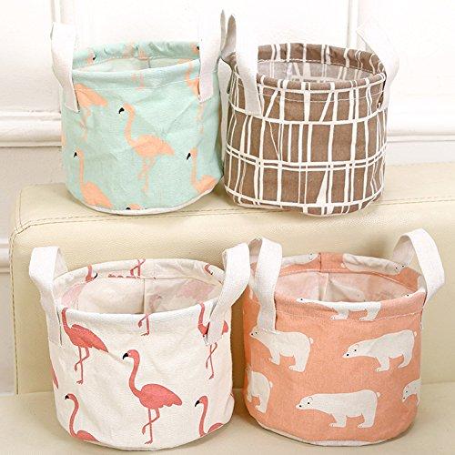 iTemer Storage Bag Home Tessuto Impermeabile cesta portaoggetti Portatile Cotone Cestino portaoggetti 7