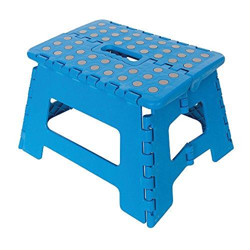 Silverline 968731 Sgabello Pieghevole con Gradino, Blu