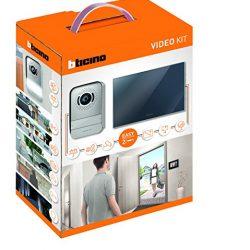 BTicino 317013 Kit Videocitofono 2 Fili Finitura Specchio Mono/Bifamigliare, Display 7 pollici a colori