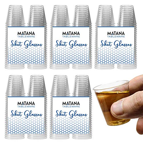 300 Bicchieri per Shot in Plastica Rigida, Trasparente (30 ml) – Monouso, Resistente, Riutilizzabile, Infrangibile  Shots e Gelatina di Vodka a Feste, Matrimoni, Barbecue, Natale – Riciclabile 100%