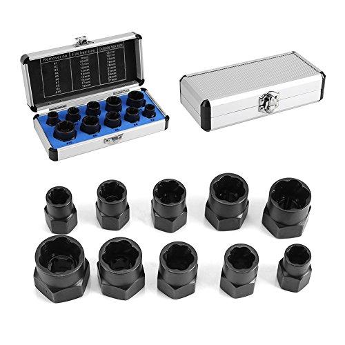 Yosoo, 10 pz, set di utensili, scatola di estrattori per bulloni a dado, EXPSFN019942