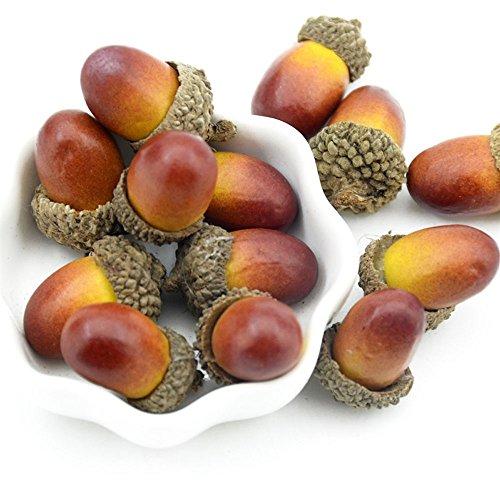 50 ghiande artificiali decorative, finta frutta, per la casa, feste, eventi, Wady