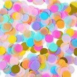 Shappy 1 Pollici Multicolore Coriandoli Carta Rotondo per Decorazione di Matrimonio Compleanno Festa, 6000 Pezzi
