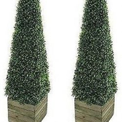 Hairui Tabletop Lighted Tree Pre-Lit Artificial Decorative Tree Lights Bonsai Battery Powered with 24LED Warm White 18in for Indoor Outdoor Home Christmas Garden Party Wedding Decoration