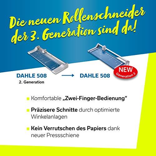 Dahle 508 – Taglierina, modello 2020, 6 fogli, fino a DIN A3, blu 3