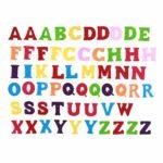 Exceart 50 Pezzi Lettere in Feltro Non Tessuto Alfabeto Lettere Colorate Lettere da Cucire Artigianali Accessorio Fatto a Mano per Bambini Regali Scrapbooking