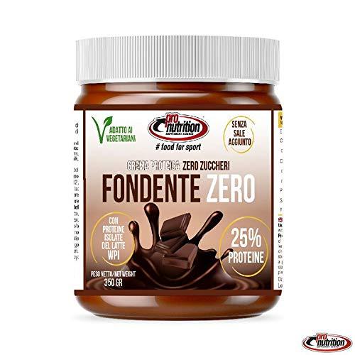 Pro Nutrition – Fondente Zero – 350g – Crema spalmabile proteica senza zuccheri al cioccolato fondente