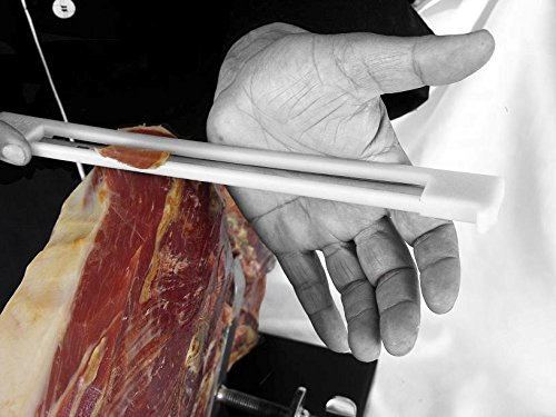 Coltello da Prosciutto con Protettore Anti-infortuni per Utenti Destri e Mancini (30 cm) – Ideale per Tagliare il Prosciutto Italiano, il Prosciutto Serrano e il Jamon Pata Negra Iberico 4