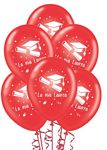 ocballoons Palloncini Laurea Rossi addobbi e Decorazioni per Feste Party Confezione 20pz