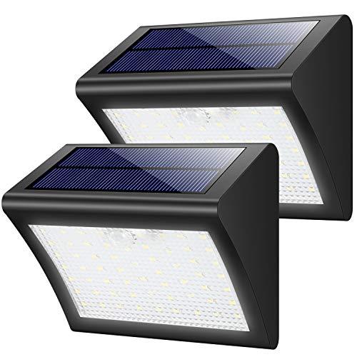 Luce Solare Esterno, Yacikos ?Super Luminoso? 60 LED Lampada Solare con Sensore di Movimento Luci Solari Impermeabile Illuminazione Solare LED con 3 modalità per Giardino ?2 Pezzi?