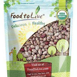 Fagioli Cranberry Bio, 3 Libbre – Biologico, Organic, Fagioli borlotti secchi, semi non OGM, kosher, fagioli grezzi alla rinfusa, prodotto degli Stati Uniti