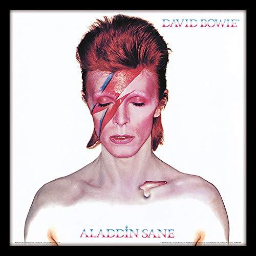 David Bowie Aladdin Sane con Cornice Classica Manica Memorabilia, 30,5cm 2
