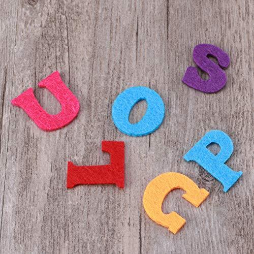 Exceart 50 Pezzi Lettere in Feltro Non Tessuto Alfabeto Lettere Colorate Lettere da Cucire Artigianali Accessorio Fatto a Mano per Bambini Regali Scrapbooking 4