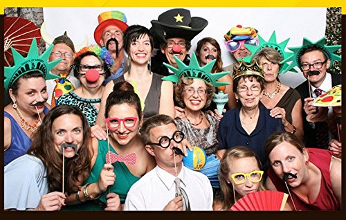 Veewon 40 ° Compleanno della Foto del Partito della Foto Props Unisex Divertente 36pcs Kit DIY Adatto per la Sua o la Sua Celebrazione 40 Compleanno Cabina Fotografica Puntello 3