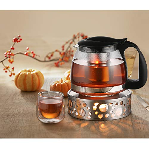 Glastal Scalda Teiera in acciaio inox fornello a candela per teiere 8