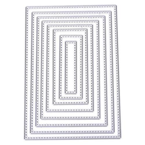Quanjucheer Set di 6 fustelle a forma di fiocco, per scrapbooking, album fotografici, decorazioni in rilievo, ideali come regalo di compleanno