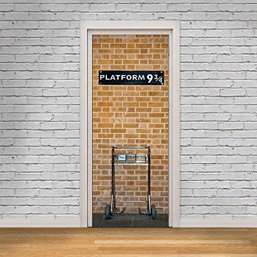 Wallflexi Porta murale Kings Cross Platform 9.75Home Decorazione da Parete murale Decalcomanie Soggiorno cameretta Ristorante Hotel Café Office Décor Rimovibile Autoadesivo