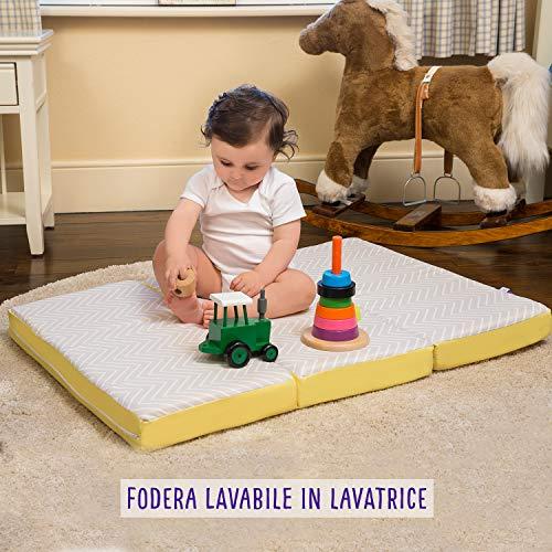 Clevamama ClevaFoam 3110 Materassino Pieghevole per Bambini, 95 cm x 65 cm x 7 cm, Multicolore 6