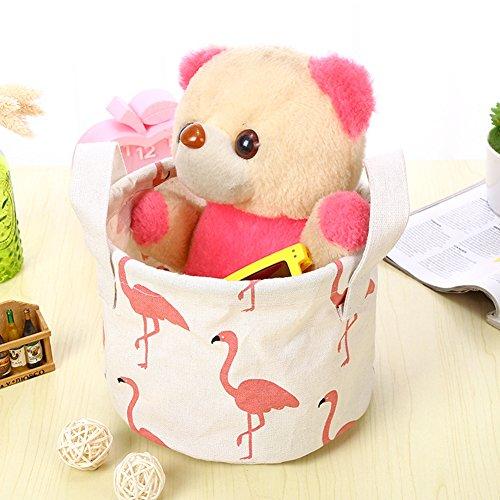 iTemer Storage Bag Home Tessuto Impermeabile cesta portaoggetti Portatile Cotone Cestino portaoggetti 4
