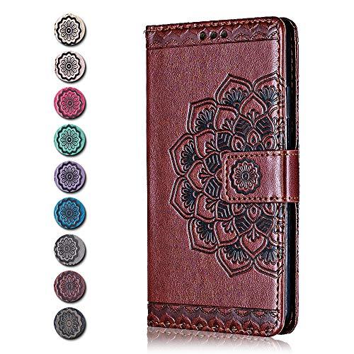 Cover Sony Xperia XZ Premium, CAXPRO® Premium Portafoglio Cover in PU Pelle, Anti Graffio Custodia con Funzione di Supporto per Sony Xperia XZ Premium, Marrone 2