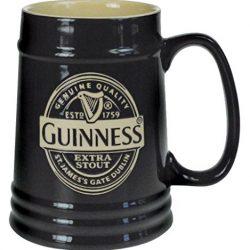 Guinness – Boccale da birra in ceramica, 1 pinta, colore: Nero 2