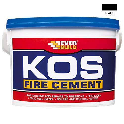 Everbuild KOSBUF2K KOS – Cemento refrattario, 2 kg, colore: Nero