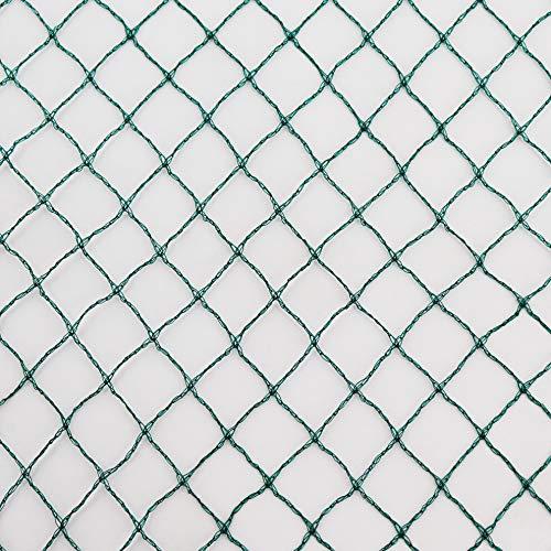 Aquagart – Rete di protezione per stagni e laghetti, versatile, colore verde, 12m x 6m, misura maglie 17mm x 17mm, per coprire e proteggere da foglie, uccelli, e altri predatori,