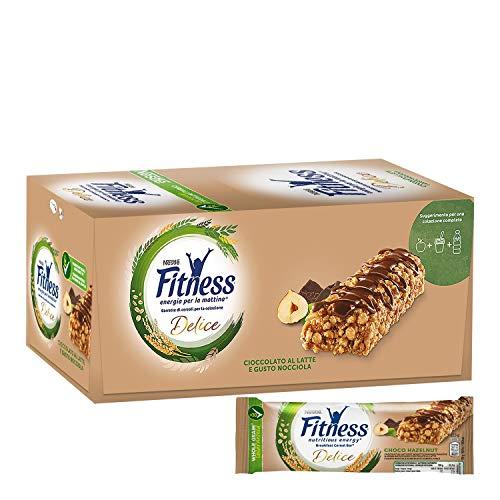 FITNESS Fragola Barretta di Cereali al Gusto Fragola, 24 Pezzi 2