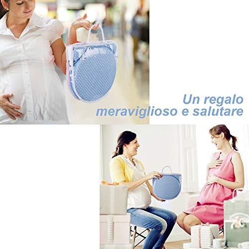 riduttore lettino neonato antisoffoco – riduttore culla per neonato materassino ergonomico bozzolo 90 x 50 cm 2